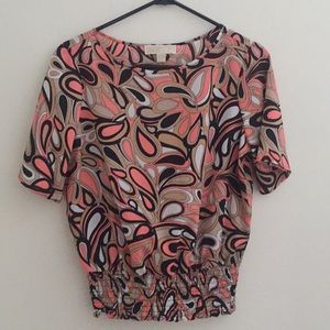 Michael Kors Small Psychedelic Print Blouse